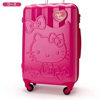 【預購】日本 | 凱蒂貓(769436):PC+ABS樹脂+TSA鎖定對應*小款~拉桿旅行箱/行李箱/箱包(規格:外部-約W35×D25×H 54厘米/內部-約W 34×D 23×H 45厘米/重量:約2.7公斤)_免運。