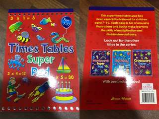 Children's books-Super Times Table Pad