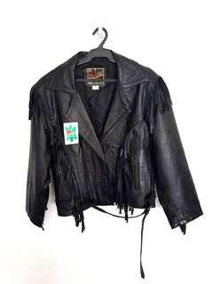 NEW Men's Genuine Leather Fringed Jacket