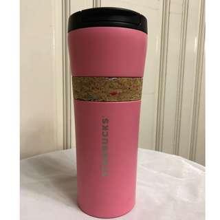 Starbucks KOREA 2018 SS Cork Band Pink Tumbler 16oz