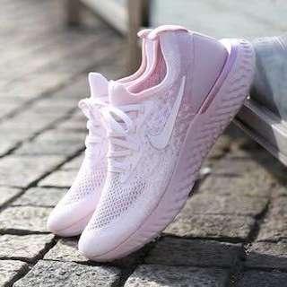 <Nike Epic React Flyknit - Rose-Arctic Pink> AQ0070-600