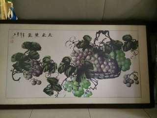 Chinese Painting of Grapes
