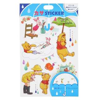 Japan Disneystore Disney Store Pooh & Friends Pooh's Day Seal Sticker for Umbrella