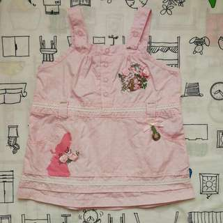 Disney Baby Pink Overall Dress (0-6 Months)