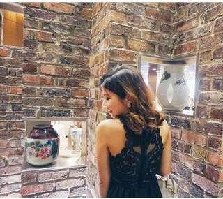 H&M Divided Black Lacey Back Dress #Ramadan50