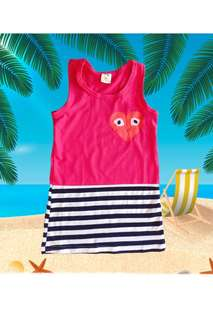 👭 little pink vest dress