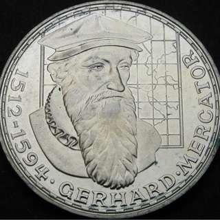 GERMANY 5 Mark 1969F - Silver - Gerhard Mercator - aUNC
