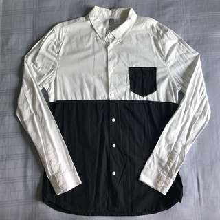 H&M Two tone L/S Slim fit Shirt
