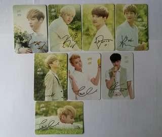 多個韓星Yes card (EXO, Infinite, BTOB, SHINee, Girl's Gerenation, Big Bang, Super Junior)