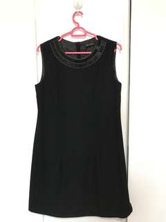 G2000 Black Dress with Woven Beads
