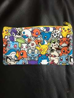 Pokemon soft zip pencil case