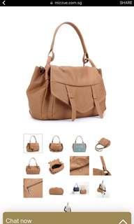 mizzue brown handbag