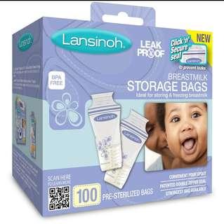 Lansinoh Breastmilk Storage Bags 100