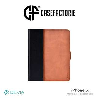 Devia Magic 2 in 1 Leather Case for iPhone X