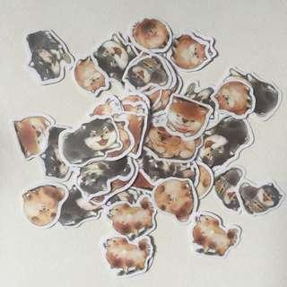 Shiba inu flake stickers