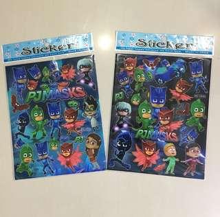 PJ masks foil stickers $1 each