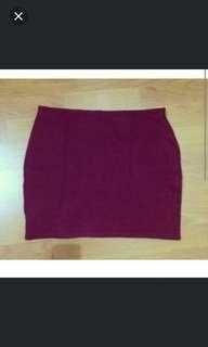 Bershka Skirt Maroon