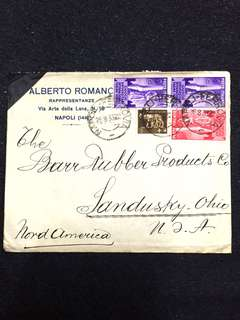 Italy 1933 Postal Cover to USA