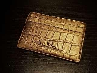 Etienne Aigner Champagne Gold Cardholder
