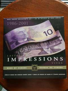 Canada $10 Identical number set