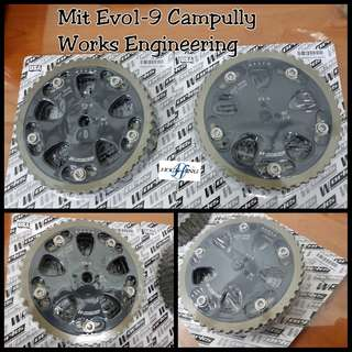 Evo1 to 8 Works Engineering Cam Gear Canpully