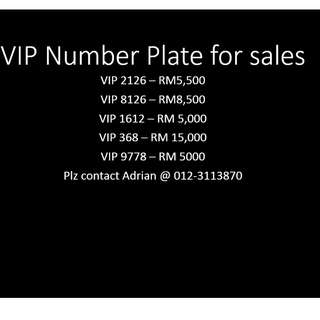 Limited VIP number plate for sales