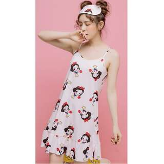 Summer Sleeveless  Cotton Sleepwear,  size : M to XXL ( Design 9)