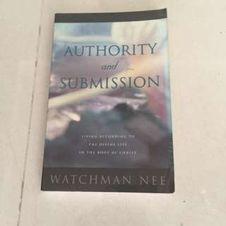 "Selling Watchman Nee's ""Authority & Submission"""