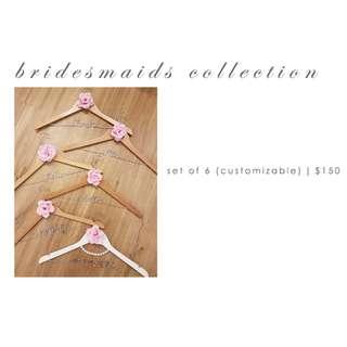 Personalised Bridal Hangers for Bridesmaids