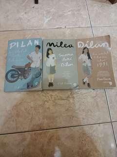 1 PAKET NOVEL DILAN (DIA ADALAH DILAN KU 1990, DILAN 1991 & MILEA : SUARA DARI DILAN