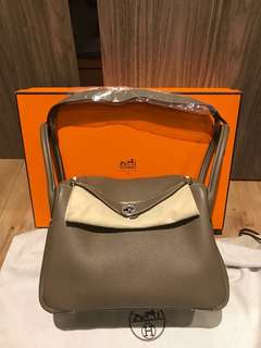 Freshly bought! Hermes Lindy 30 in Clemence leather Etoupe PHW