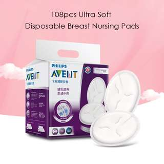 108PCS Ultra Soft Disposable Breast Nursing Pads
