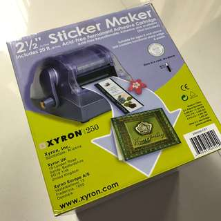 Xyron Sticker Making Machine with 1 Refill