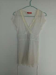 Theory X white blouse