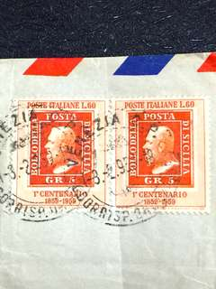 Italy 1959 Postal Cover to USA