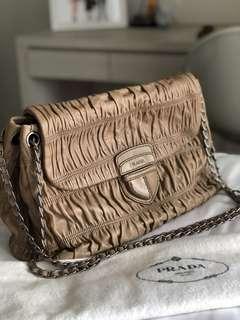 Prada Nappa Gaufre Leather Flap Handbag