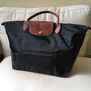 Longchamp black hand bag 手提包