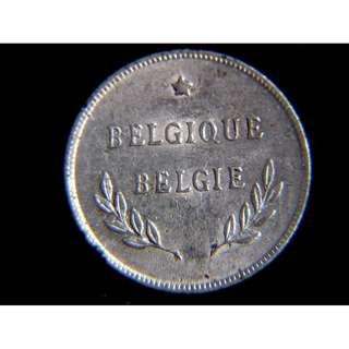 1944年盟軍在比利時(Belgium)發行2法郎鋁幣(比利時解放初期,原光美品)