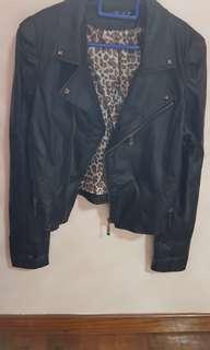 Black Faux Soft Leather Jacket