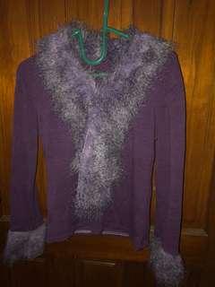 Fur Sweater Ungu