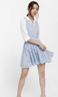 Lovebonito Nalgona Lace Overlay Dress in Baby Blue