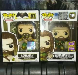 Aquaman Justice League Funko Pop Bundle