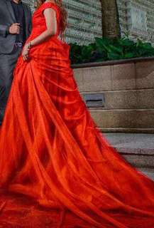 BRIDAL GOWN RED GOWN
