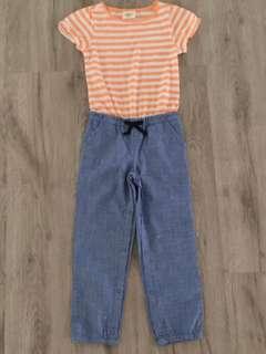 *NEW* Orange Stripes Long Jumpsuit