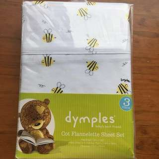 **REDUCED** Busy Bees Baby Cot Sheet Set