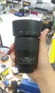 Nikkor lens 60mm f2.8g ed