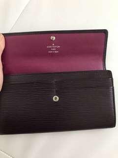 LV epi leather wallet