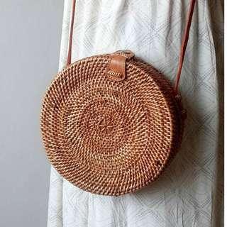 [IN-STOCK] Carmen Wicker Round Rattan Bag