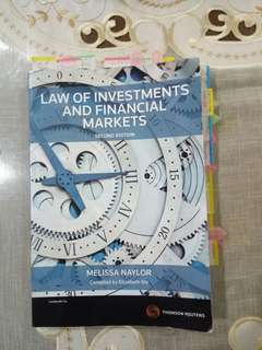 Law of Investments and Financial Markets Second Edition