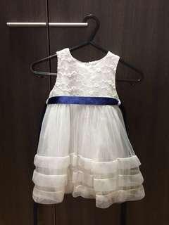 1-2 yrs old dinner white dress